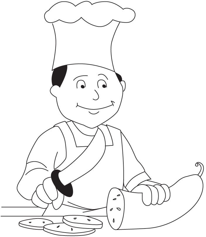 Chef Coloring Page Download Free Chef Coloring Page For Kids