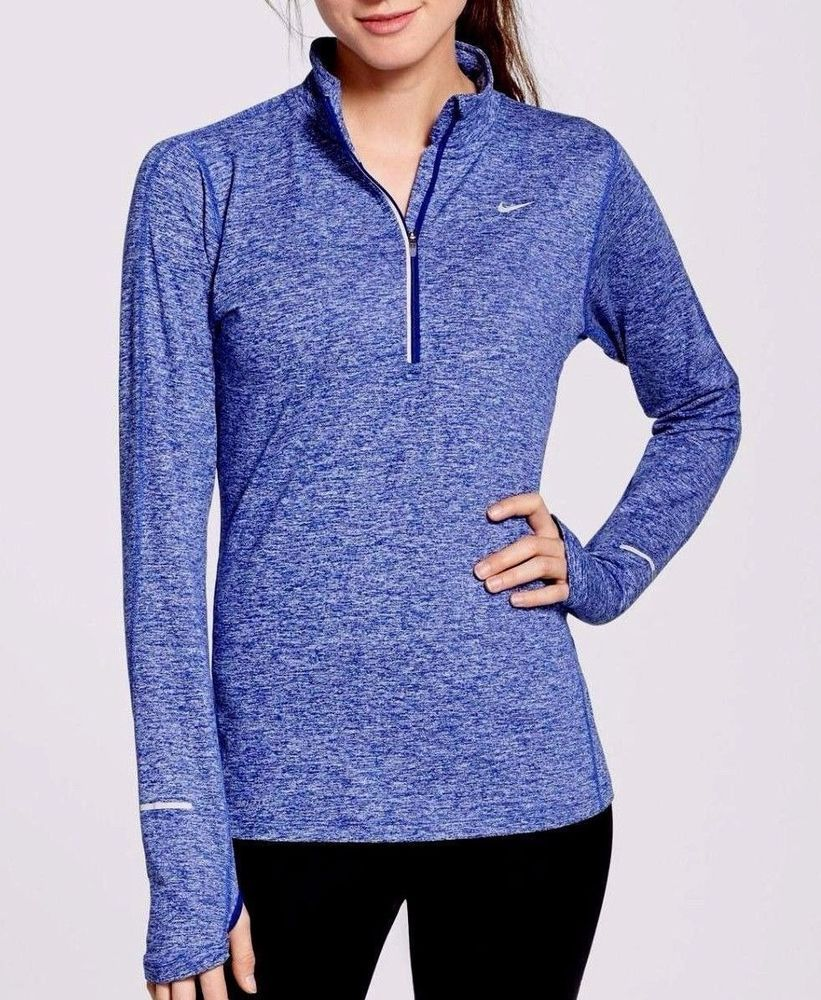191950928e3 Nike Dry Element Womens Running Top Shirt S Blue Heather Reflective 717421  456  Nike  ShirtsTops