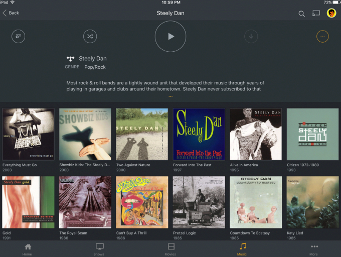 Plex adds more TIDALpowered features, including 'Artist
