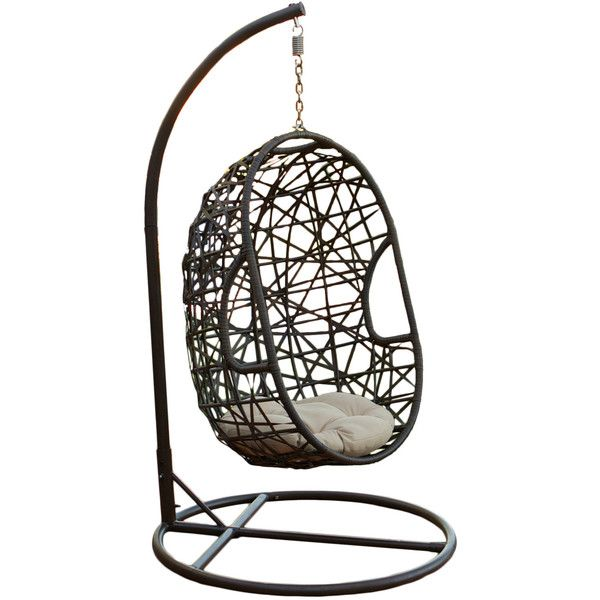 Home Loft Concept Egg-Shaped Outdoor Swing Deep Seating Chair ...