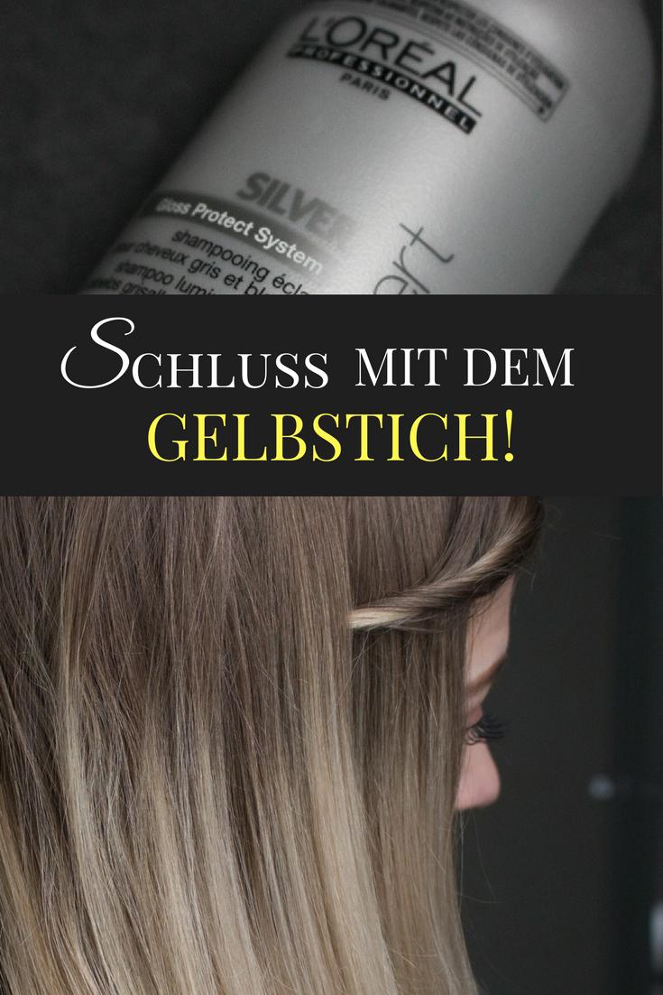 loreal series expert silver shampoo gegen gelbstich in blondem