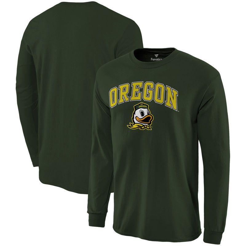 29651ff303 Oregon Ducks Fanatics Branded Campus Long Sleeve T-Shirt – Hunter ...