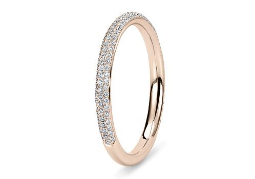 The Samoa ring in Rose Gold (18k), set with Round diamonds (G colour and VS clarity) for a total weight of 0.35ct. Shop at www.77Diamonds.com #77Diamonds