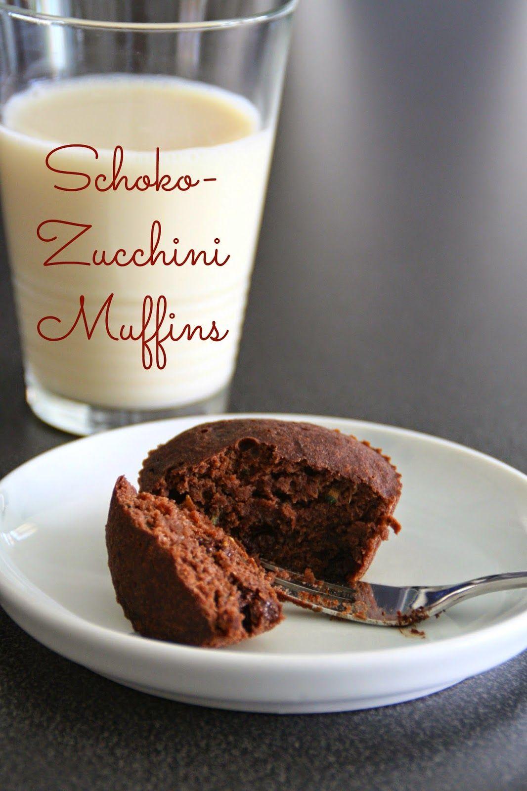 Schoko Zucchini Muffins Sweets Pinterest Zucchini Schoko Und