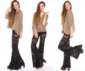7af94a741 calças dos anos 60 femenino - Yahoo Image Search Results Calças Largas,  Calças Femininas,