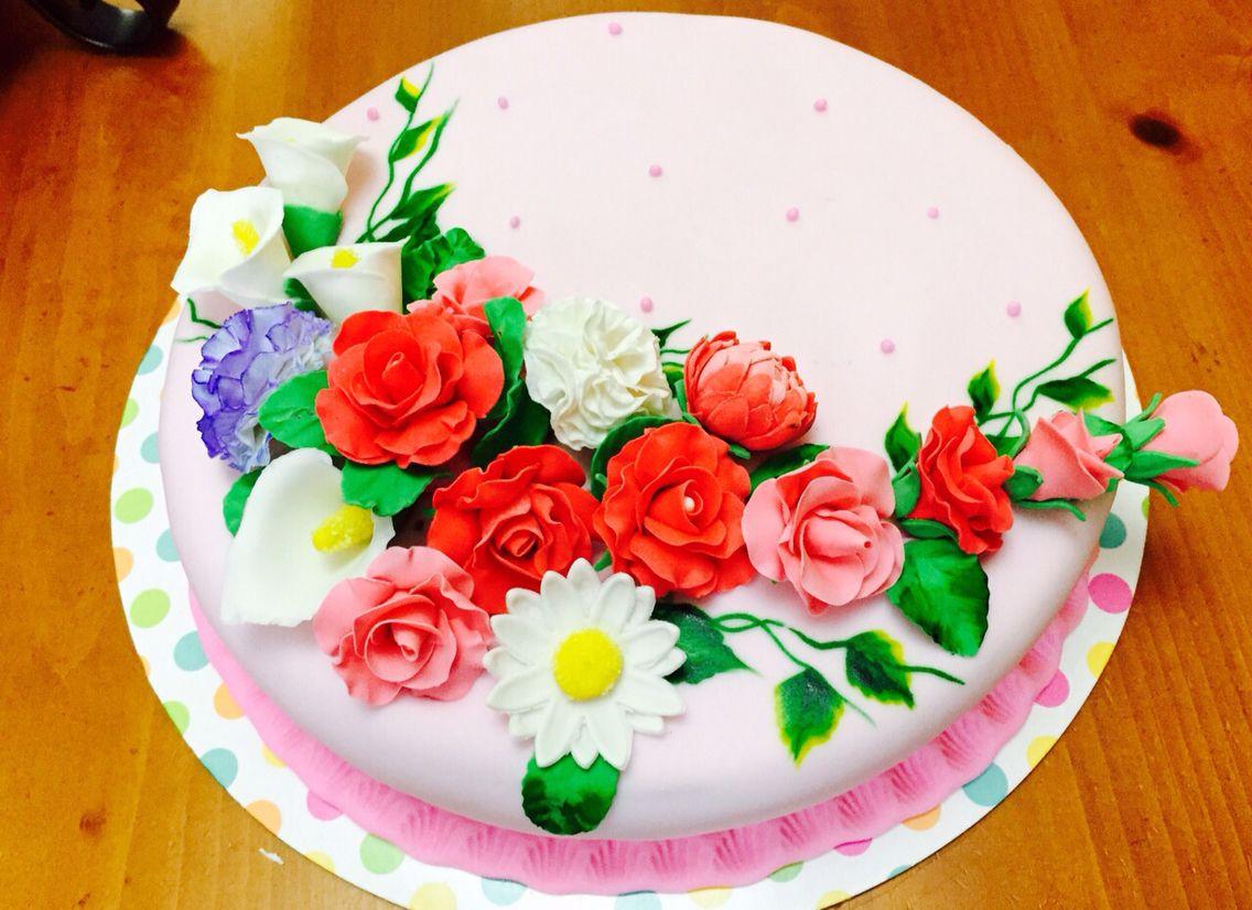 Mi primer cake de fondant bien hecho