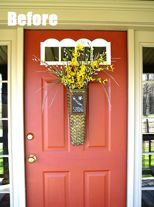 Front Door Colors For White House front door color with green house - google search | doors