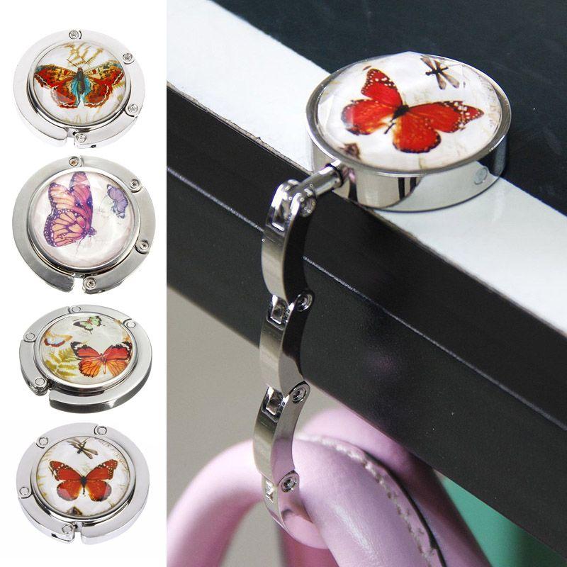 Foldable Metal Butterfly Purse Bag Hanger Handbag Table Hook 9 LBY2017