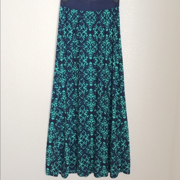 Joe B Maxi Skirt NWT!! This gorgeous blue and green skirt is soft, flowly and super comfortable. It has an elastic waist and measures approximately 42 inches from waist to hem. The pretty colors and versatile style make this skirt perfect for any season! ❌ Trades ❌ PayPal   Bundle and save on shipping!! Joe B Skirts Maxi