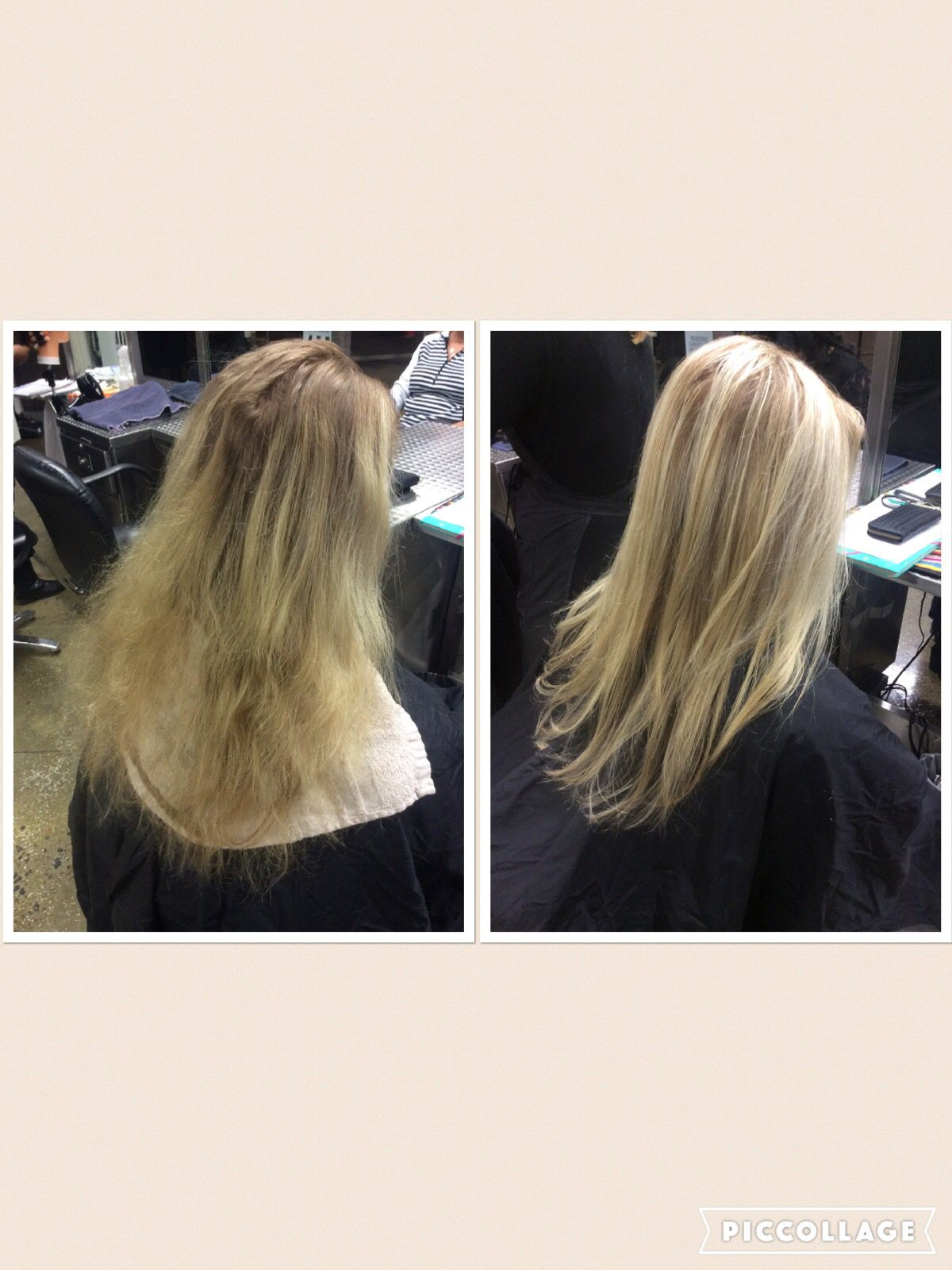 Highlights Wanted To Blend Into Her New Growth Used Medium Fine Weaves Throughout Hair 6 Section Partial Foil Styling Products Smooth