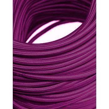 fio cabo revestido em tecido colorido roxo kit 10 metros