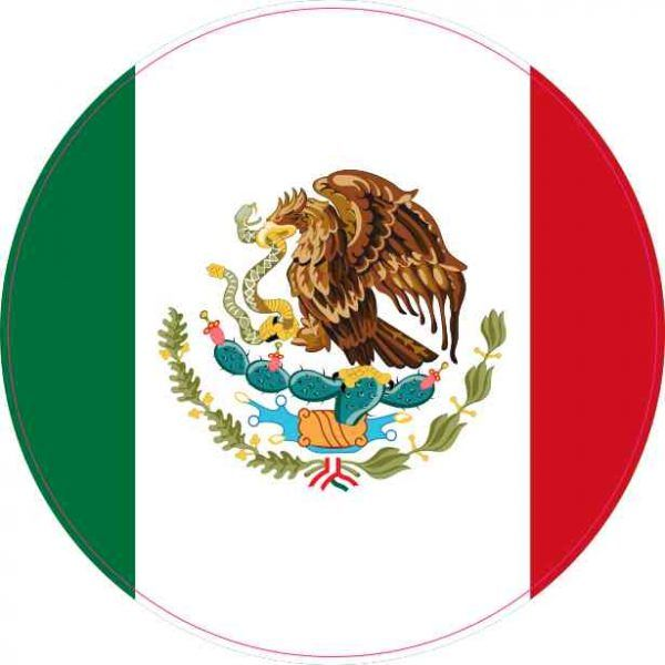 4 4 Round Mexico Flag Sticker Vinyl Vehicle Decal Travel Hobby Stickers Mexico Flag Gallery Print Mexican