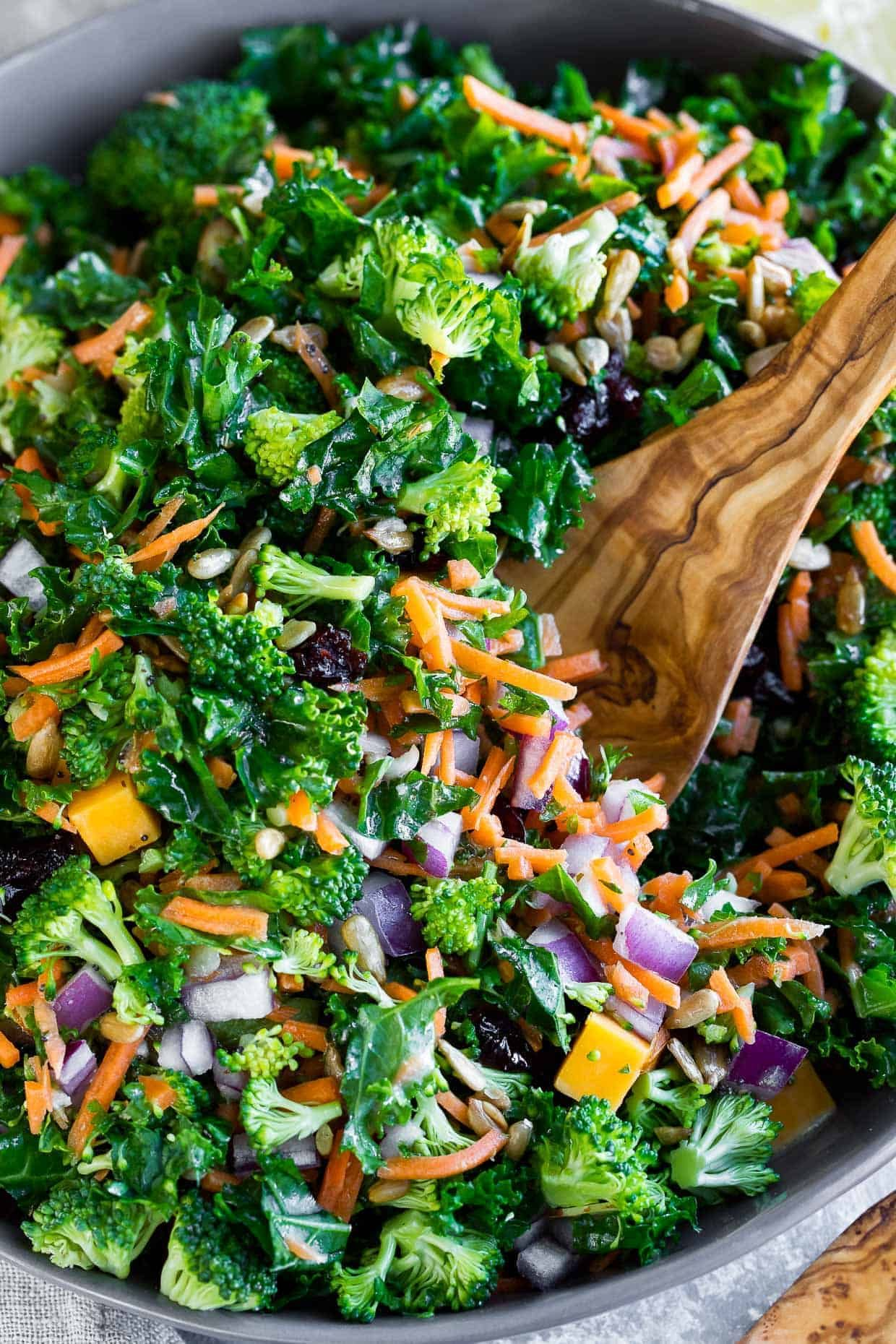 Photo of Easy Kale Salad with Fresh Lemon Dressing – Spend With Pennies