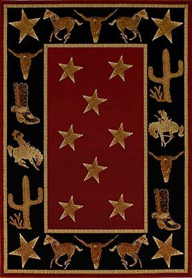 Cowboy Up Midnight Rug Western Rugs Western Area Rugs Country Area Rugs