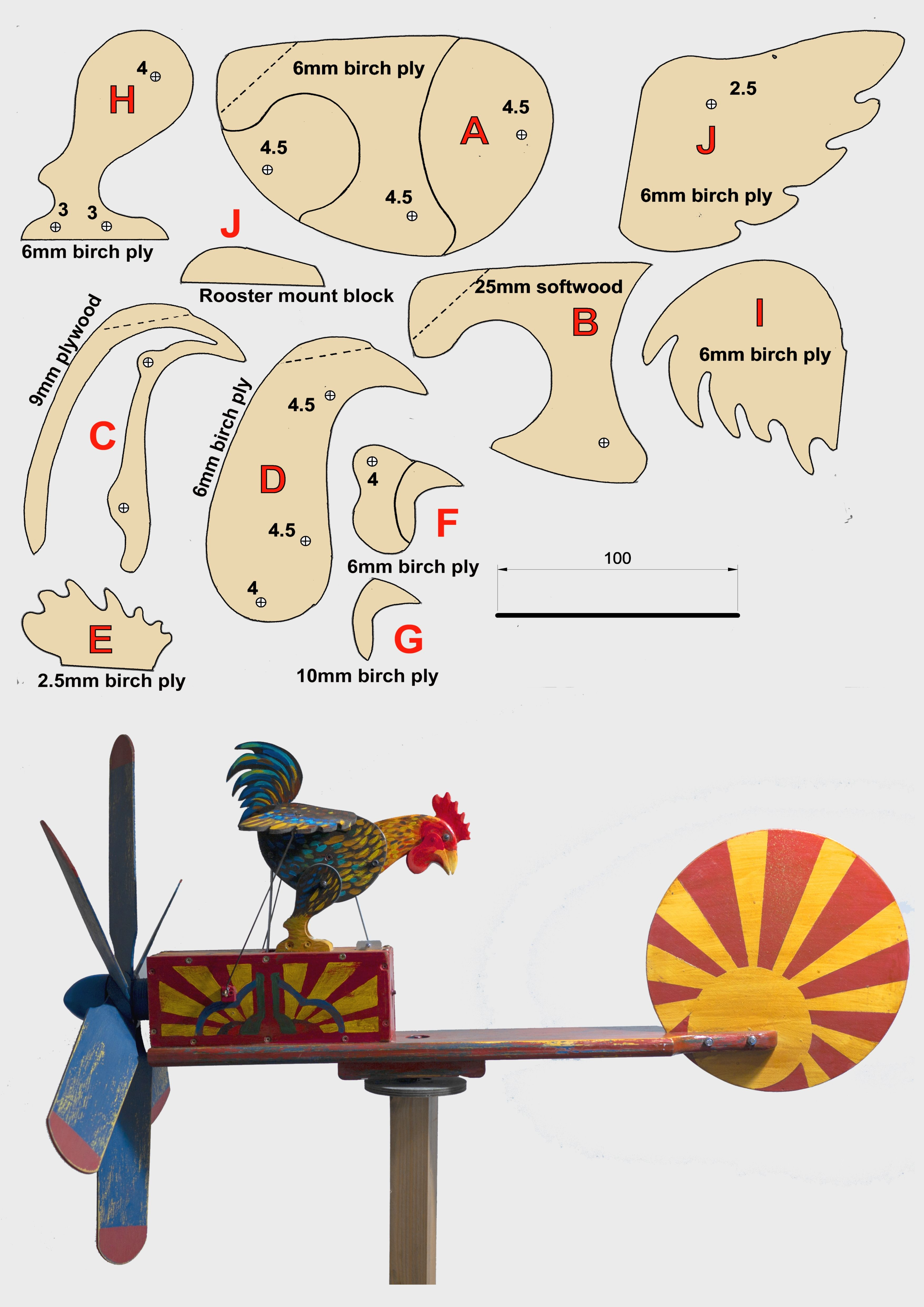 Rooster Whirligig With Templates In 2021 Woodworking Projects Gifts Wood Craft Patterns Whirligigs Patterns