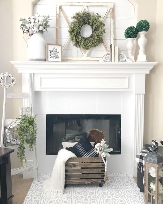 This Collection Of Fireplace Mantel Electric Is Full Of Warm Cozy Decor Inspirati Farmhouse Fireplace Decor Fireplace Mantle Decor Farmhouse Fireplace Mantels