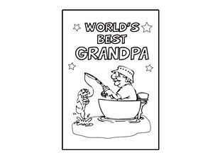 Printable Fathers Day Cards To Color For Grandpa Fathers Day