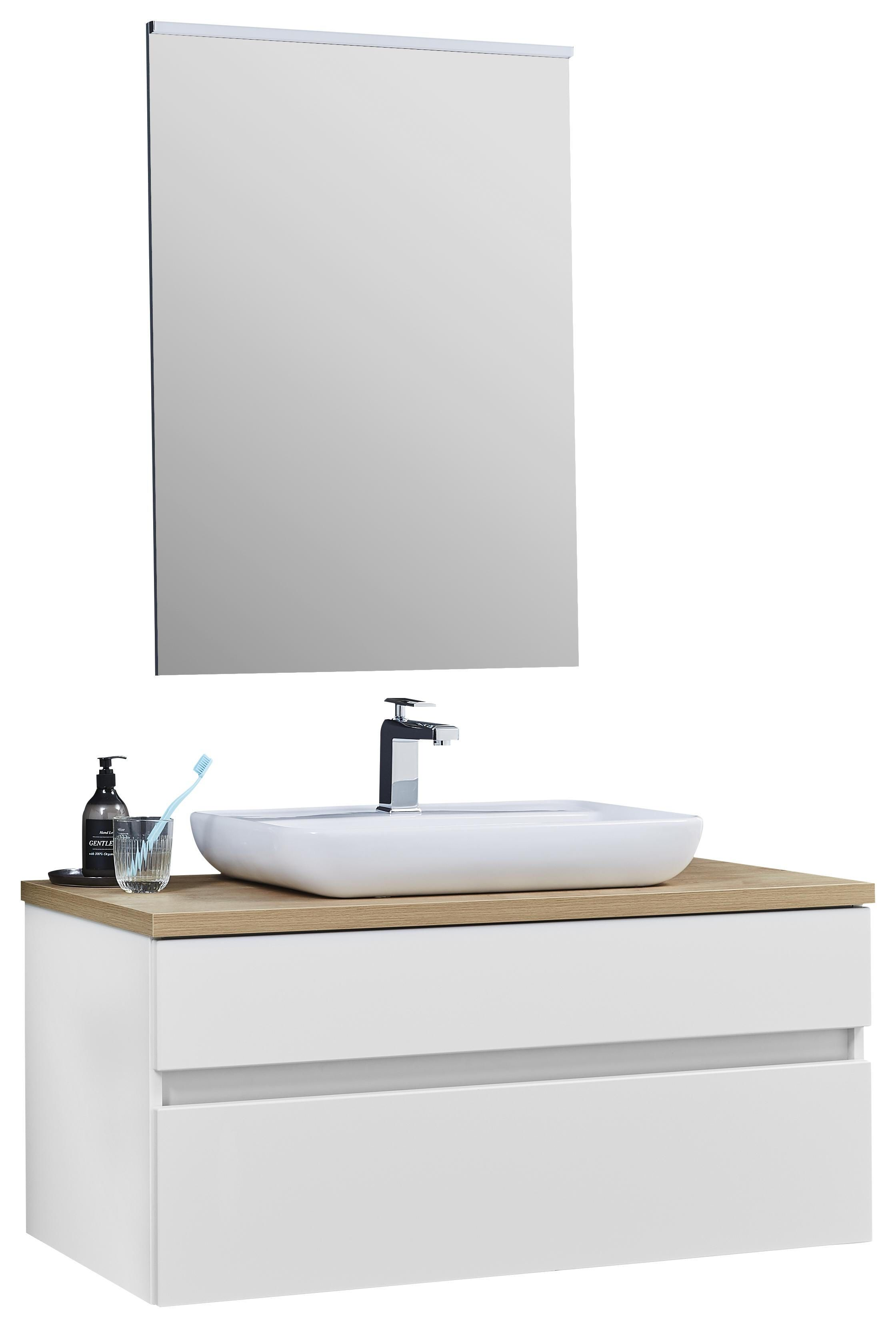 Badezimmer Weiss Eichefarben Mit Bildern Badezimmer Badezimmer Unterschrank Waschbecken