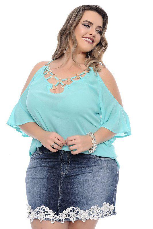 ea592c16f1 Blusa Plus Size Debby - Daluz Plus Size