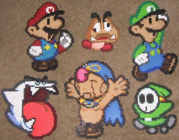 paper mario partners perler google search pixel art pinterest