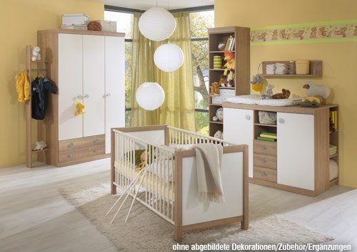 Babyzimmer 3-teilig in Alpinweiß-Noce, Schrank B 135 cm - pinolino babyzimmer design