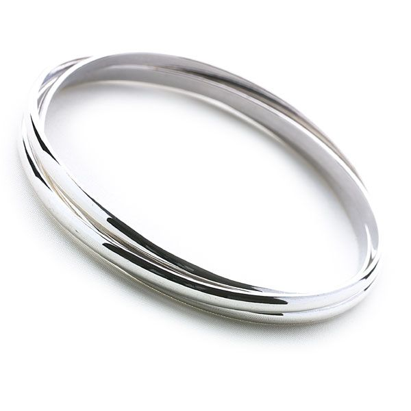 elements ladies silver sterling bangle plain amazon dp uk bangles co