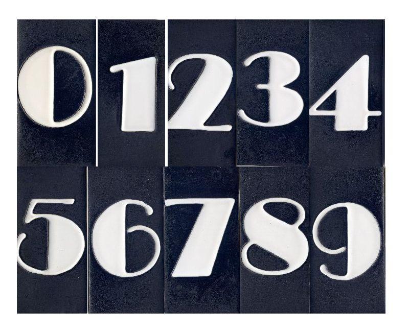 Art Deco House Number Ceramic Tile 6 X 3 Black Art Deco Font Art Deco Typography Modern Art Deco