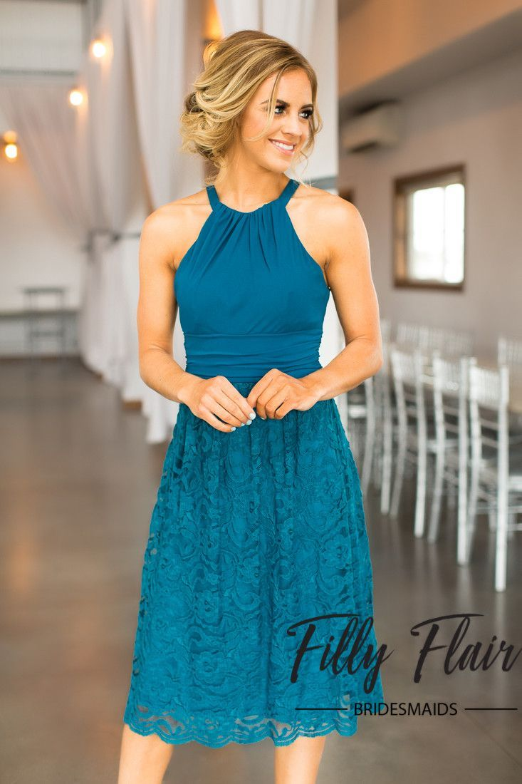 Alayna Bridesmaid Dress in Teal | Bridesmaid Dresses | Pinterest ...