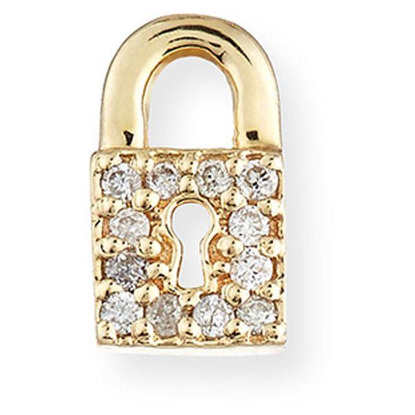 Sydney Evan 14k Diamond Lock Single Stud Earring Xda6yMuCEA