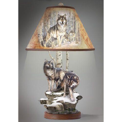 Winter S Majesty Al Agnew Illuminations Of The Wild Wolf Art Bradford Exchange Ebay Wolf Decor Wolf Room Lamp