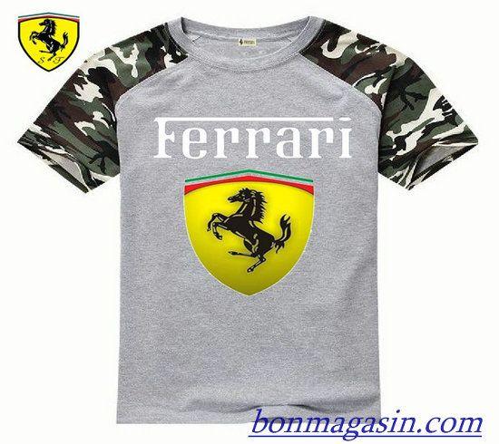 Vendre Pas Cher Homme Ferrari Tee Shirts H0014 En ligne En France ... a0f96f3fb74