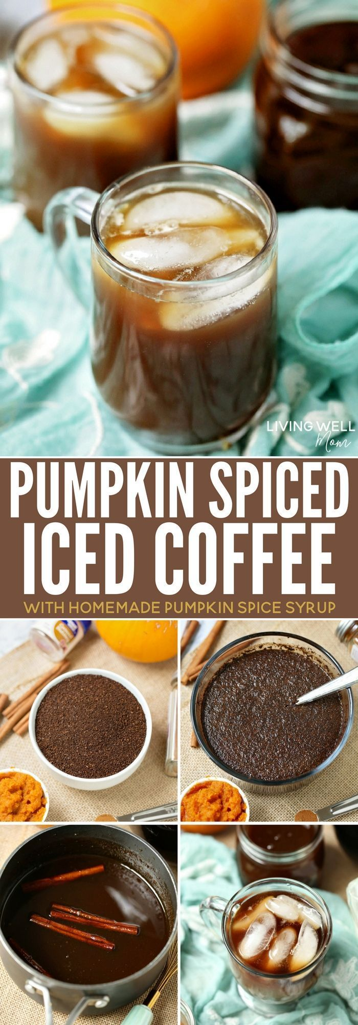 Pumpkin Spice Iced Coffee Recipe Homemade pumpkin