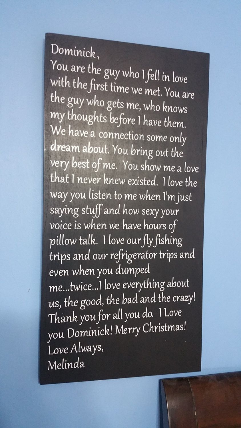 Love letter to your husband wife valentine wood sign quote saying this example in the photo is a love letter i made for my boyfriend this last christmas its a forever way to keep a love letter to your significant other spiritdancerdesigns Image collections