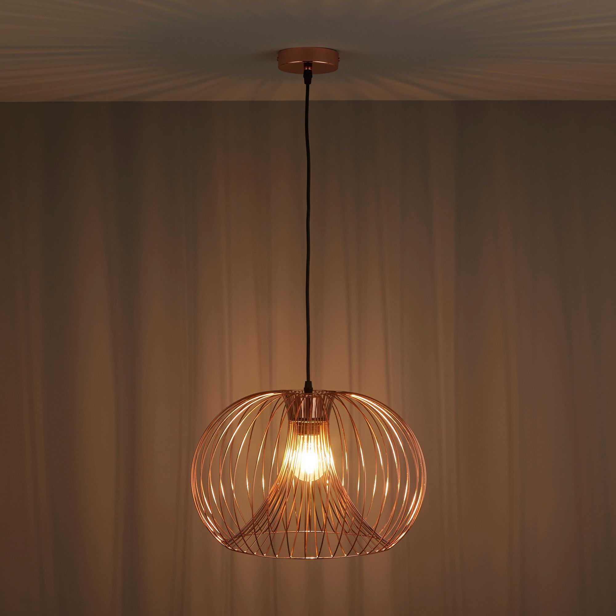 Jonas Wire Copper Pendant Ceiling Light