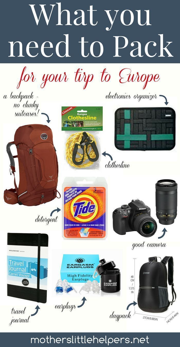 What You Need to Pack for Your Trip to Europe  Mother's Little Helpers is part of information-technology - Are you planning a trip to Europe and aren't sure what to pack  Check out  What You Need to Pack for Your Trip to Europe  and grab your FREE Packing Lists