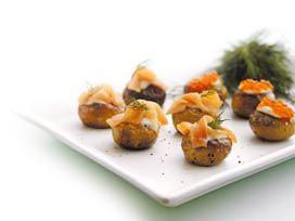 Opskrift - Fisk - Saltbagte kartofler med laks
