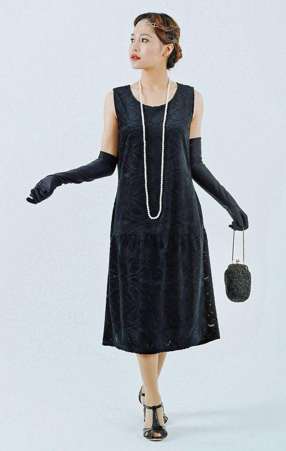 a4e99d6d2a2 Black flapper dress with burnout velvet black Great Gatsby dress 1920s  velvet dress Charleston dress flapper costume 20s women dress  95.00 AT ...