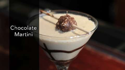#Chocolate #Martini | Unlike most chocolate martinis, this vodka-based cocktail does not include chocolate liqueur or half-and-half. Instead, this tasty version combines equal amounts of Baileys Irish Cream, coffee-flavored Kahlua, vanilla vodka, and a secret ingredient, almond-flavored amaretto. It's like a milkshake for adults!
