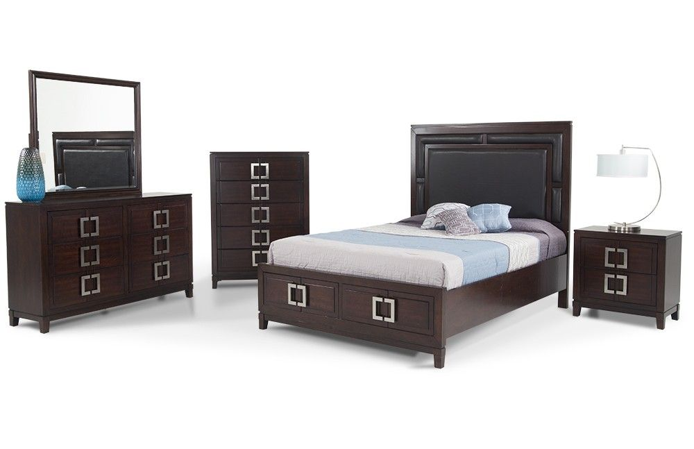 Contemporary Bedroom Set with Storage Galore! | Furniture ...