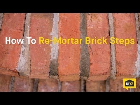 How To Tuck Point Mortar Joints With Quikrete Mortar Repair Youtube Mortar Repair Brick Repair Brick Steps