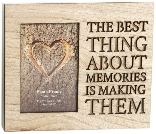 Wooden Cut Out Word Photo Frame 4 X 6 ~ Memories | Gifts for Besties ...