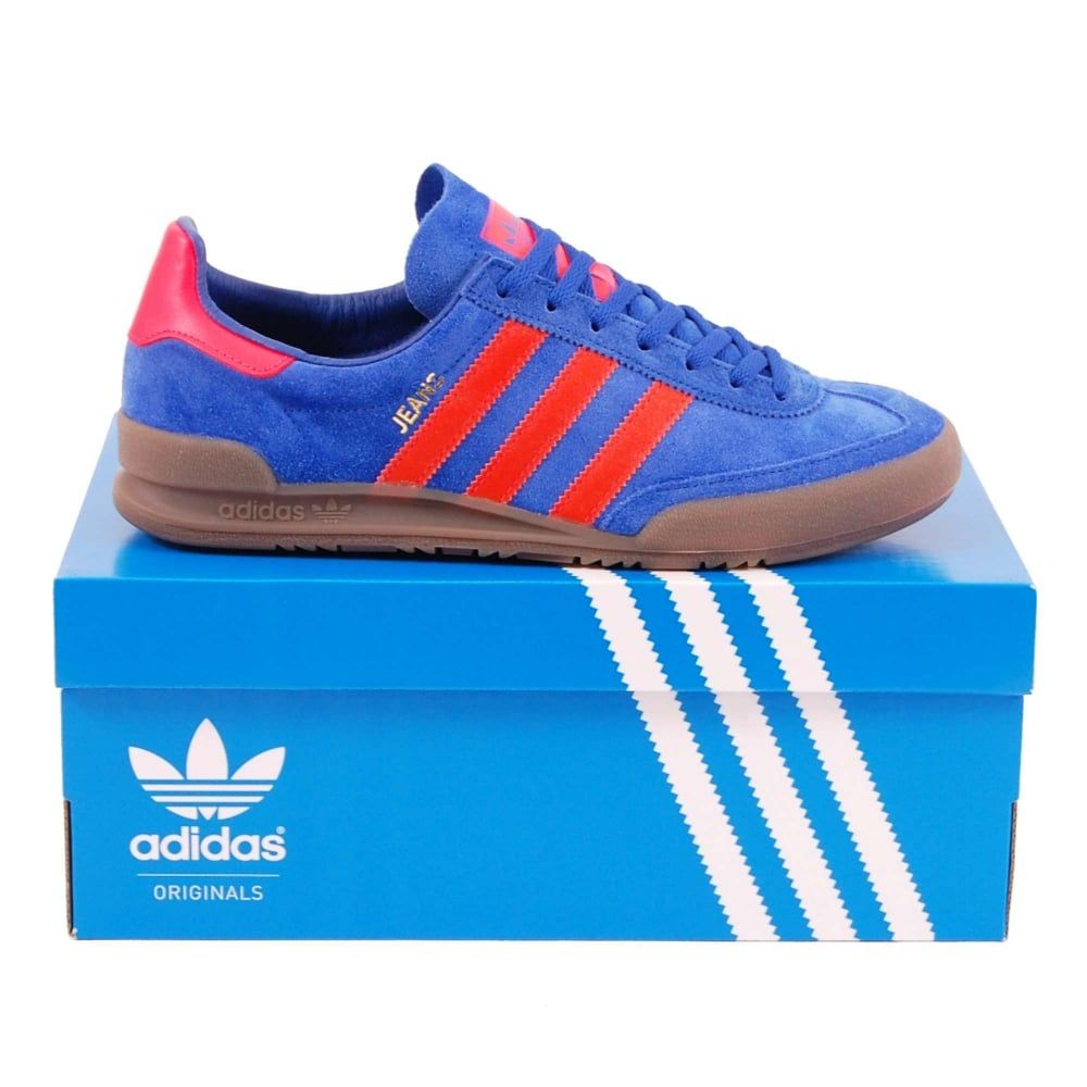 jeans red adidas solar collegiate royal