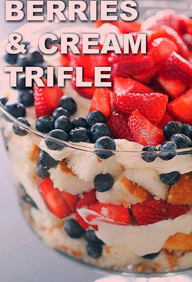 Photo of 4th of July Patriotic Berry Trifle