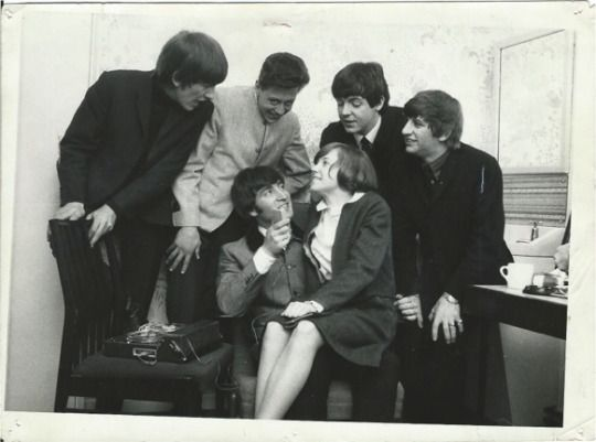 "In 1964,15-year-old Ellen Deneau won a Detroit radio contest and flew to London to meet The Beatles on the set of their movie, ""A Hard Day's Night."""