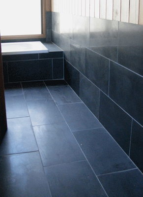Chinese Black Slate Honed At Silvermere Guesthouse Blue