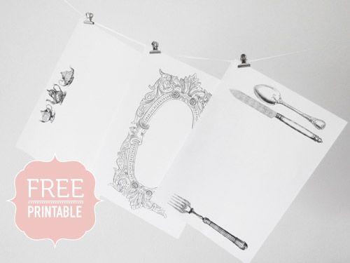 Manteles individuales vintage | Descargables Gratis para Imprimir ...