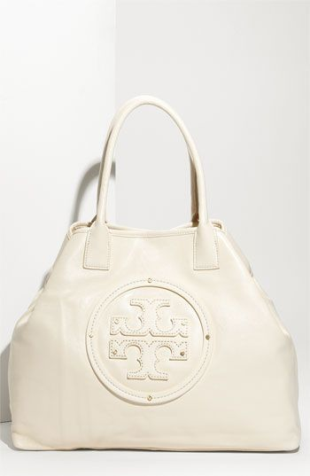 e7a7e673e57 Tory Burch White Leather Tote -- I want in brown or black! Best Purses