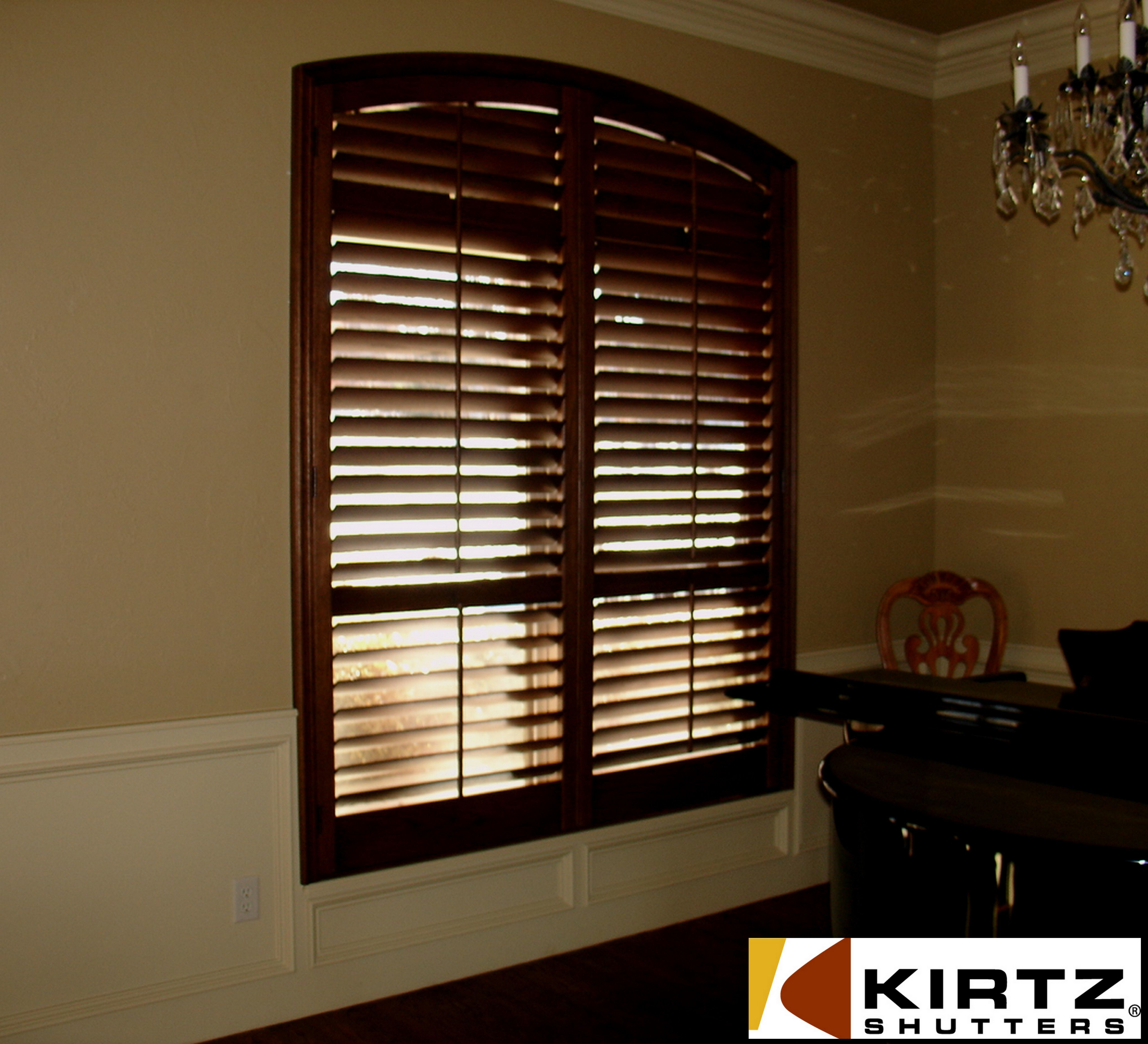 Maple Hardwood Shutter Stained Around Painted Casing Www