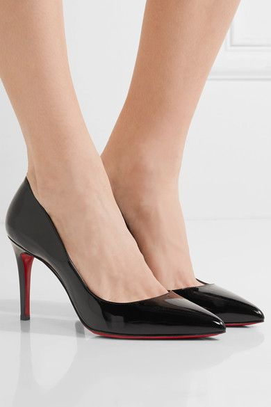 2ff06c9c72 Patent leather Pigalle Louboutin heels in black - for work | Fm high ...