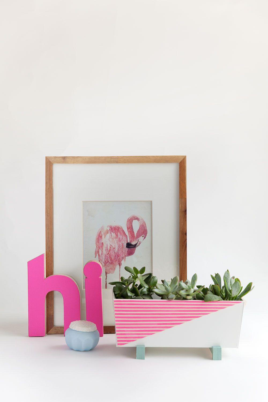 DIY Modern Indoor Succulent Planter